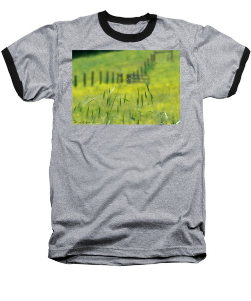 Baseball T-Shirt featuring the photograph Beyond The Weeds by EricaMaxine  Price