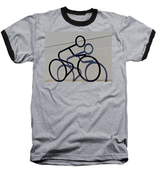 Baseball T-Shirt featuring the photograph Bicycle Shadow by Julia Wilcox