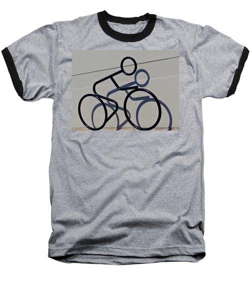 Bicycle Shadow Baseball T-Shirt