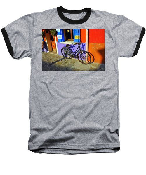 Bicycle Stance Burano Italy Baseball T-Shirt