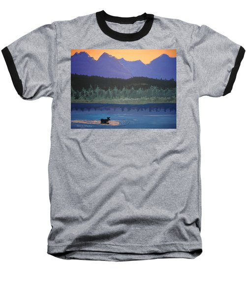 Baseball T-Shirt featuring the painting Big Sky Country by Norm Starks