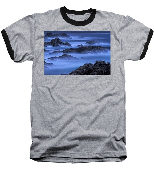 Baseball T-Shirt featuring the photograph Big Sur Mist by William Lee