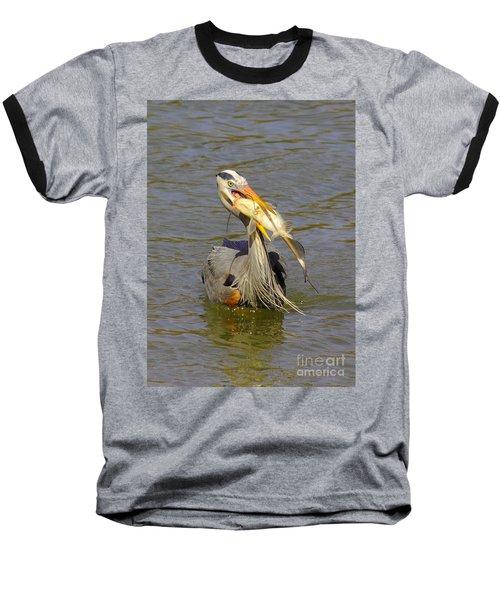 Bigger Fish To Fry Baseball T-Shirt by Robert Frederick
