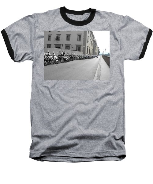 Baseball T-Shirt featuring the photograph Bikes by Laurel Best