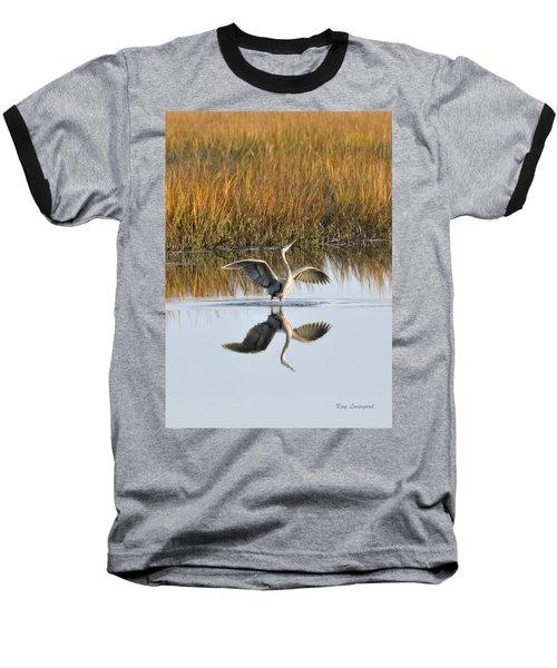 Bird Dance Baseball T-Shirt by Kay Lovingood