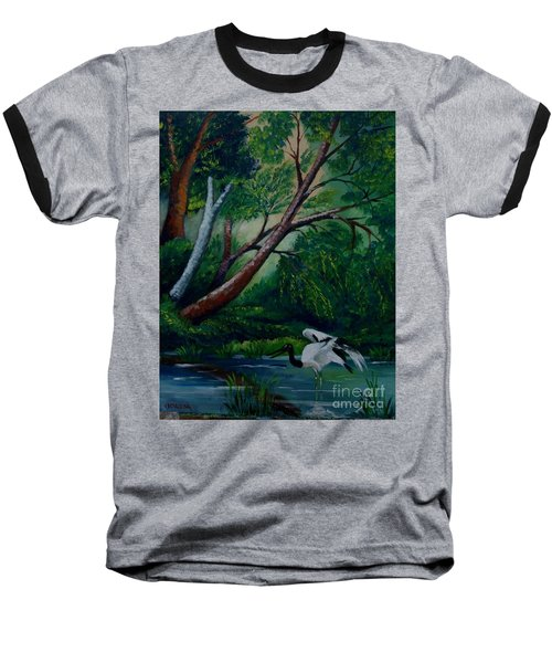 Bird In The Swamp Baseball T-Shirt