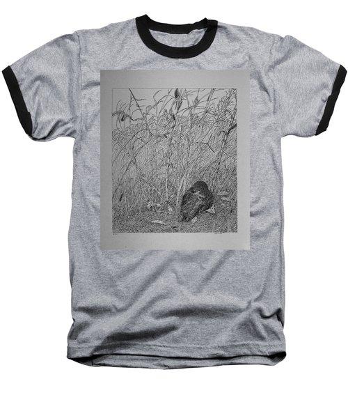 Bird In Winter Baseball T-Shirt