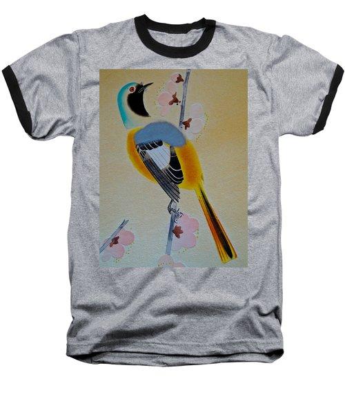 Bird Print Baseball T-Shirt