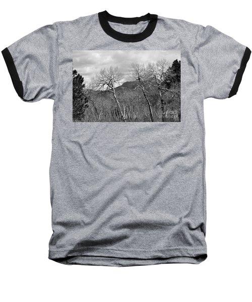 Black And White Aspen Baseball T-Shirt