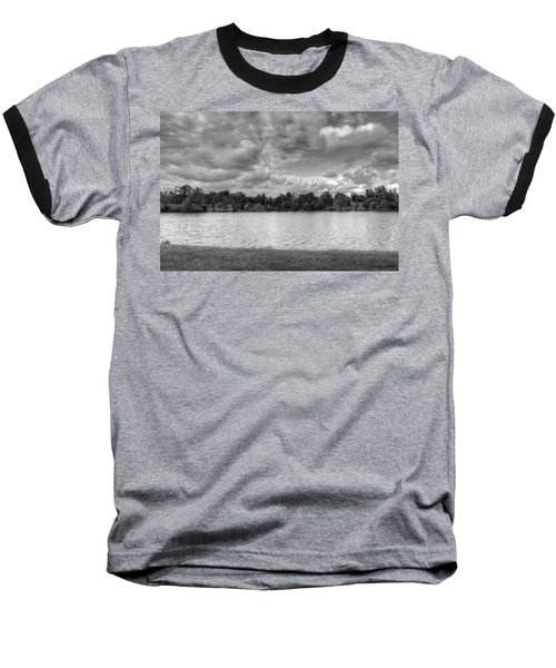 Baseball T-Shirt featuring the photograph Black And White Autumn Day by Michael Frank Jr