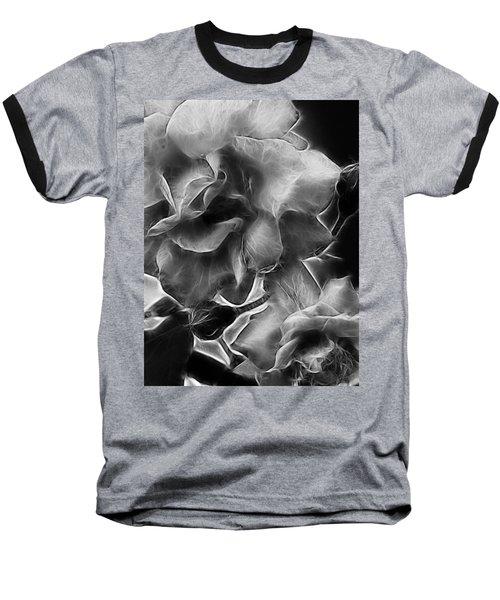 Black And White Roses Baseball T-Shirt