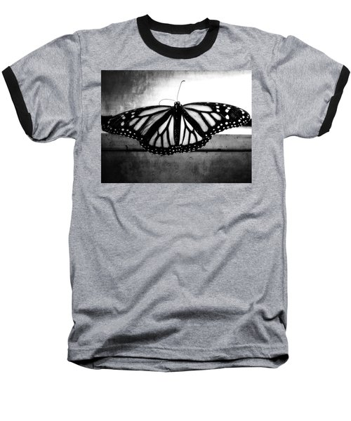 Baseball T-Shirt featuring the photograph Black Butterfly by Julia Wilcox