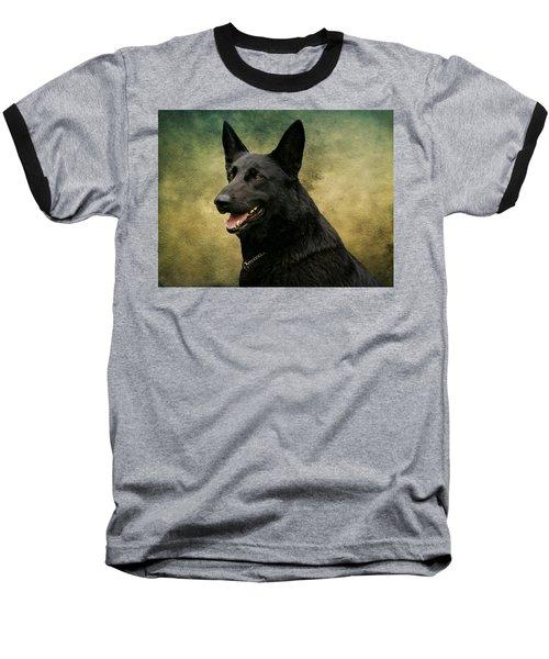 Black German Shepherd Dog IIi Baseball T-Shirt