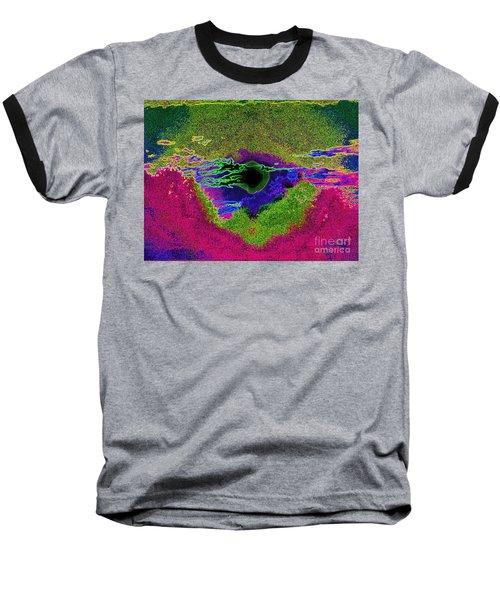 Black Hole Sun Baseball T-Shirt by Susan Carella