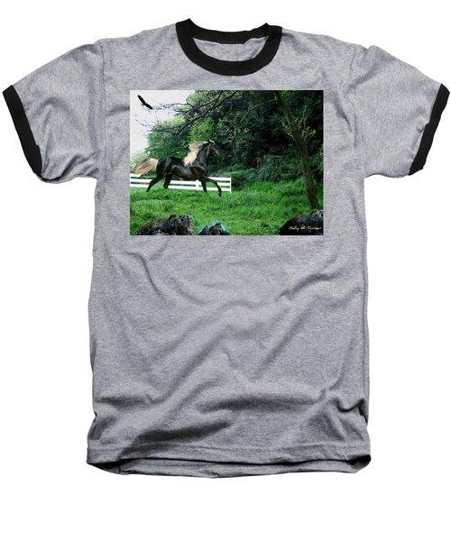 Black Stallion Baseball T-Shirt by Kelly Turner