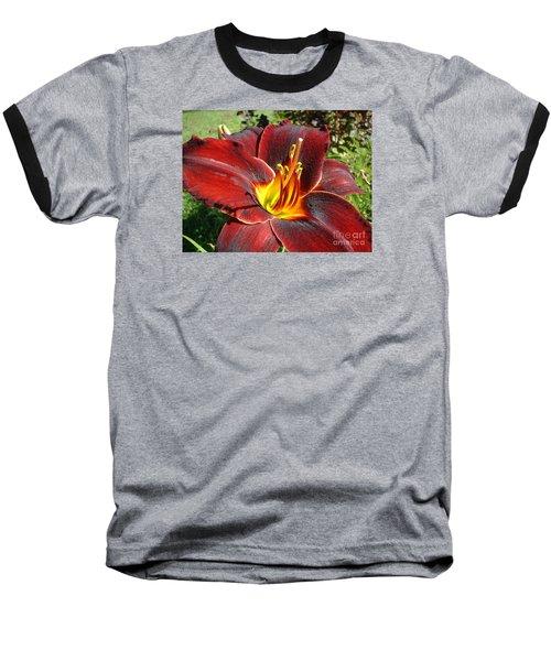 Bleeding Beauty Baseball T-Shirt by Mark Robbins