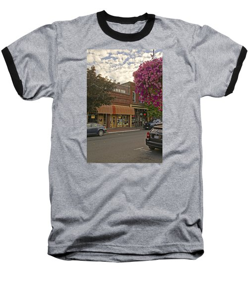 Blind Georges And Laughing Clam On G Street In Grants Pass Baseball T-Shirt by Mick Anderson