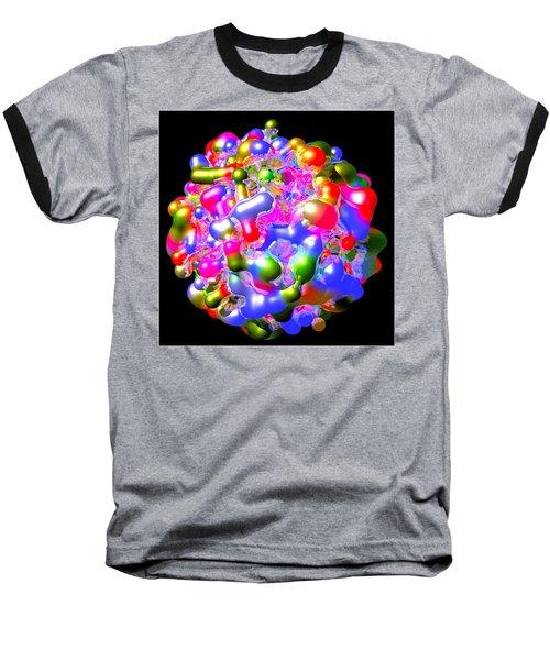 Baseball T-Shirt featuring the digital art Blob Of Color... by Tim Fillingim