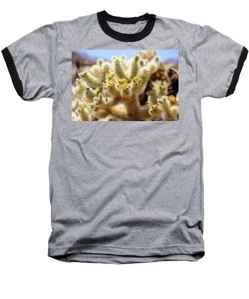 Blooming Cholla Baseball T-Shirt