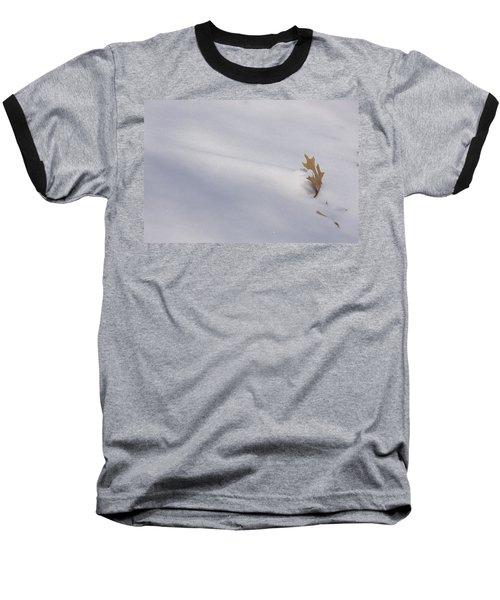 Blown Snow And Oak Leaf Baseball T-Shirt