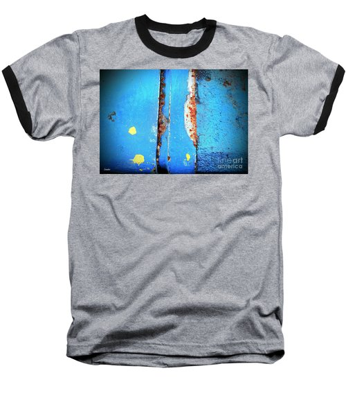 Blue Abstract Baseball T-Shirt