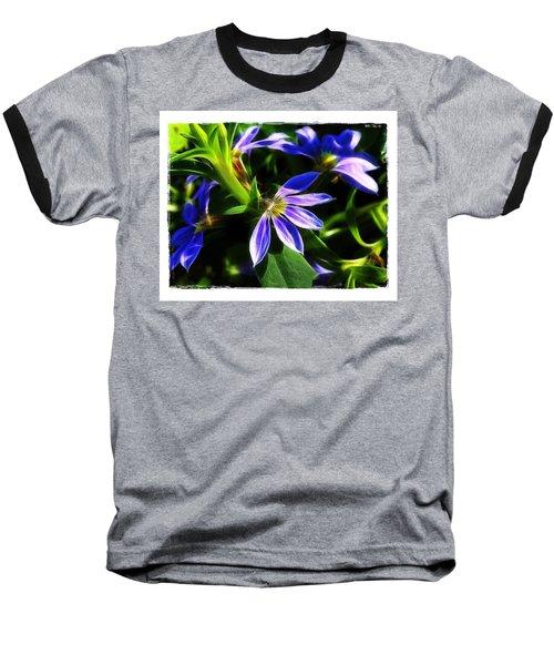Baseball T-Shirt featuring the photograph Blue Ballet by Judi Bagwell