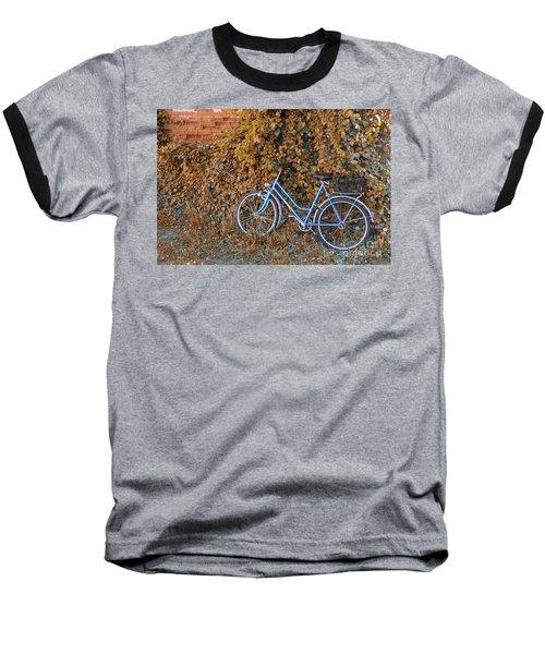 Blue Bike Baseball T-Shirt