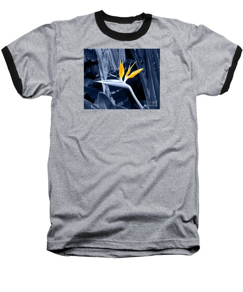 Blue Bird Of Paradise Baseball T-Shirt by Rebecca Margraf