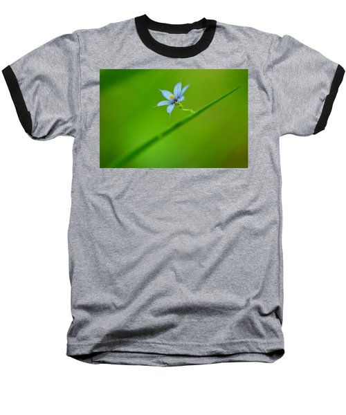 Baseball T-Shirt featuring the photograph Blue-eyed Grass by JD Grimes