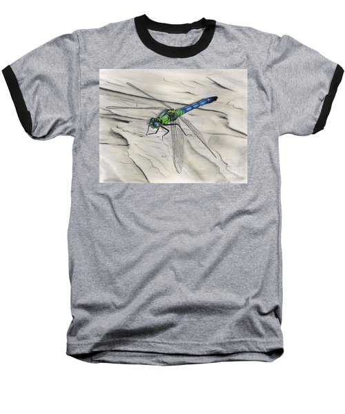 Blue-green Dragonfly Baseball T-Shirt
