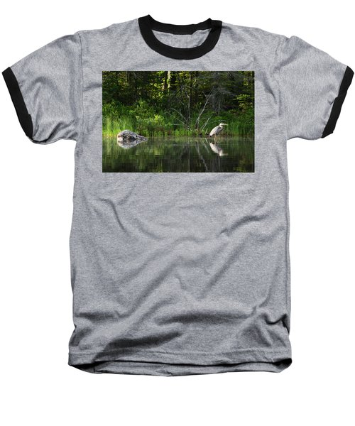 Blue Heron Long Pond Wmnf Baseball T-Shirt