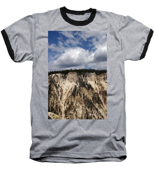 Blue Skies And Grand Canyon In Yellowstone Baseball T-Shirt by Living Color Photography Lorraine Lynch