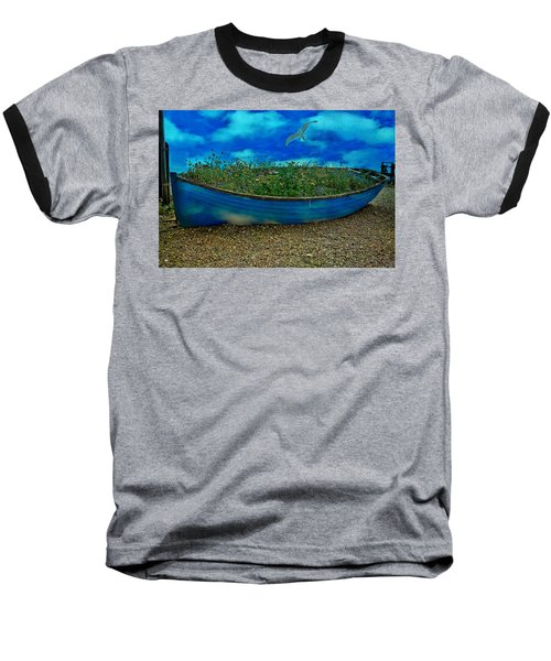 Baseball T-Shirt featuring the photograph Blue Sky Boat  by Chris Lord