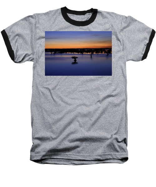 Blue Sunset Mangroves Baseball T-Shirt