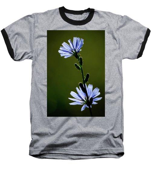 Blue Wildflower Baseball T-Shirt