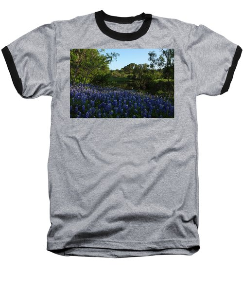 Bluebonnets At The Pond Baseball T-Shirt