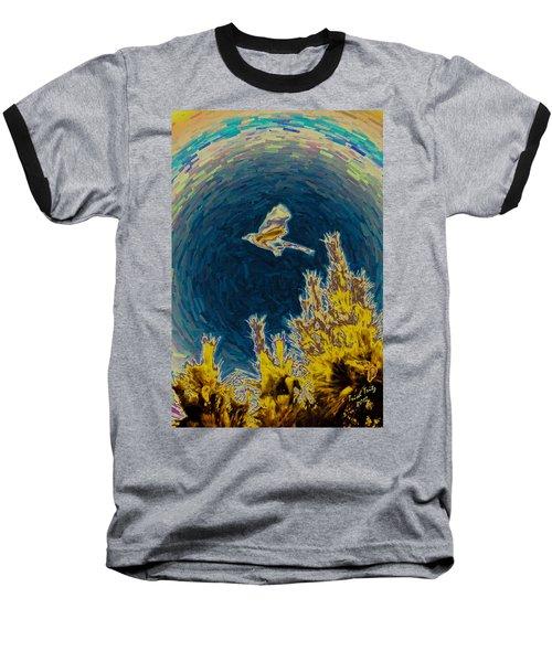 Bluejay Gone Wild Baseball T-Shirt by Trish Tritz