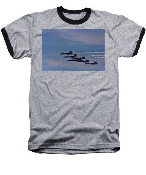 Baseball T-Shirt featuring the photograph Blues by David Gleeson