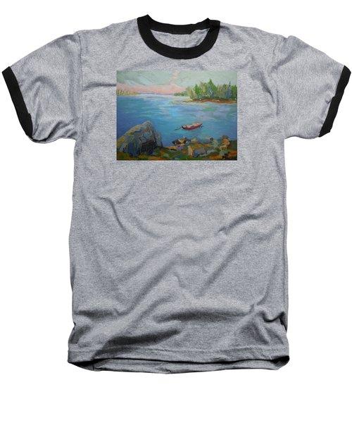 Boat And Bay Baseball T-Shirt