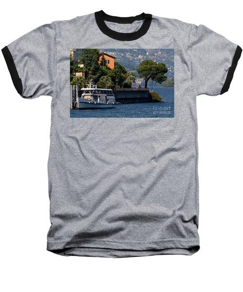 Boat And Tree Baseball T-Shirt