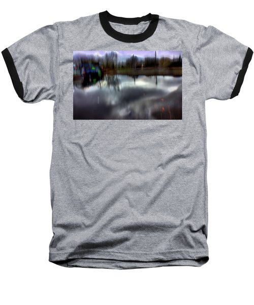Baseball T-Shirt featuring the mixed media Boat House I by Terence Morrissey