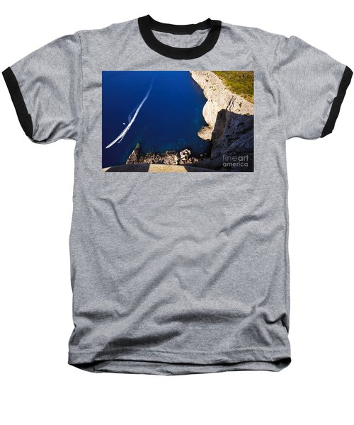 Boat In The Sea Baseball T-Shirt