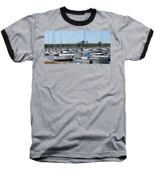 Baseball T-Shirt featuring the photograph Boats At Winthrop Harbor by Debbie Hart
