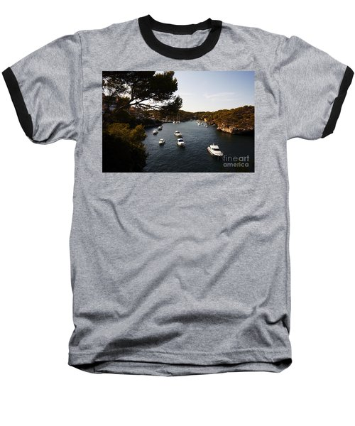 Boats In Cala Figuera Baseball T-Shirt