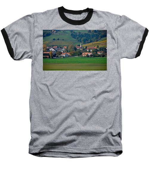 Baseball T-Shirt featuring the photograph Bonvillars by Eric Tressler
