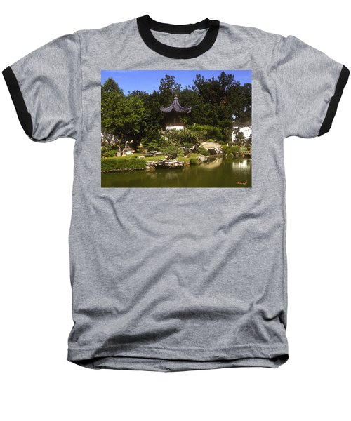 Baseball T-Shirt featuring the photograph Bonzai Garden And Gazebo 19l by Gerry Gantt