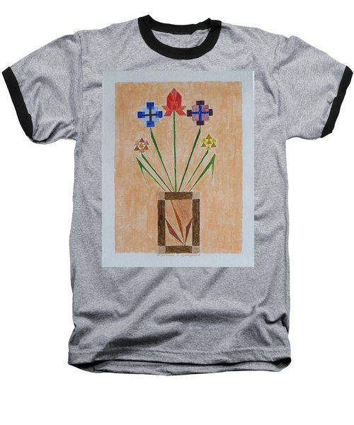 Baseball T-Shirt featuring the painting Bouquet by Sonali Gangane