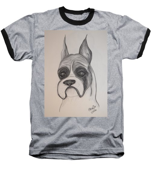 Baseball T-Shirt featuring the drawing Boxer by Maria Urso