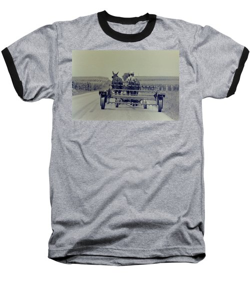 Baseball T-Shirt featuring the photograph Boy Heads To Work by Mike Martin