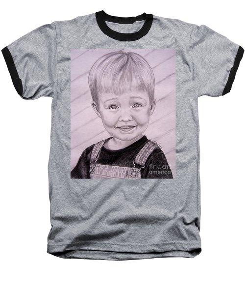 Baseball T-Shirt featuring the drawing Brady by Julie Brugh Riffey